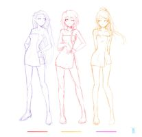 Girl Characters 05 06 07 by moxie2D