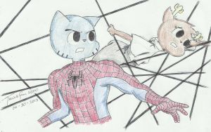 Spider-Man 3 Poster Gumball and Penny Promo (2008) by TAWoGFan2000
