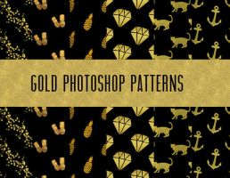 GOLD PHOTOSHOP PATTERNS by dlolleyshelp