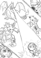 pokemon triple battle by kasuminox