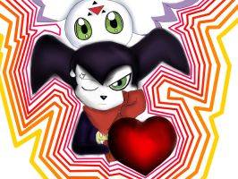 Impmon And Culumon Valentine's Card by Andrew-Stealfh