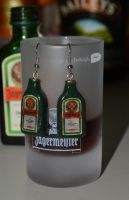 Jagermeister earrings by trollwaffle