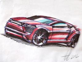 Quick car sketch by koleos33