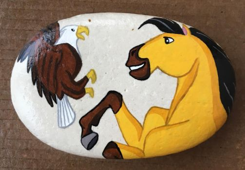 Painted Rock - Spirit Stallion of the Cimarron by starfiregal92