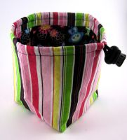 Vertical Stripes Dice Bag by Isilian
