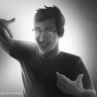 Markiplier Portrait by garnetbarren