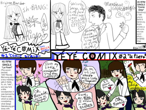 Ye-ye Comix Number 1 and 2 by reccaphoenix