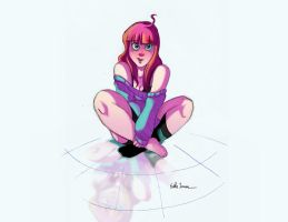 Girl on the floor. by Sketchmazoid