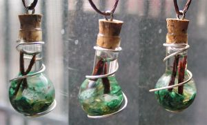 Magic Vial - All the Greens Pendant by Izile