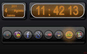 NIXIE clock start page by a3cAnton