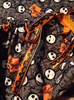 Nightmare Before Christmas Draw String Bag by FoxofShadows