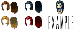Mixed Hair Giveaway-everyone by LadyPirouette