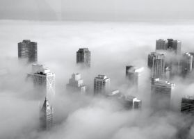City Engulfed In Clouds by xEmmyx545x