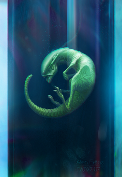 Alien fetus by inSOLense
