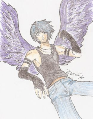 Male Fallen Angel by Zarzii