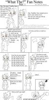 """What The"" Fan Notes Part 1 by TomBoy-Comics"