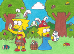 Easter Egg Hunt by MarioSimpson1
