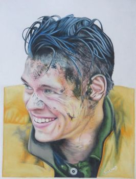 Drawing Harry Styles from Dunkirk by JunkDrawings