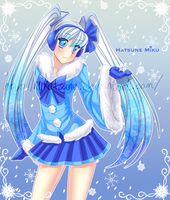AT: Snow Miku by Mikabunni