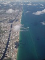 Ft Lauderdale from the Air by Midnighthorsemen