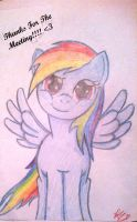 Rainbow dash (pencil art) by MissRedMoon1