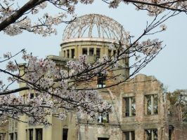 A-bomb Dome Sakura by thecomingwinter