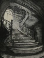 Gothic Stairwell by LuthienneTinuvielle