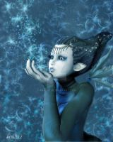 Sweet Blue Magic Faery by Aral3D