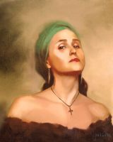 LADY WITH GREEN HEADSCARF by JALpix