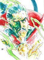 Doctor Strange watercolor sketch. by deankotz