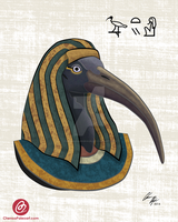 Thoth ( Egyptian God of Wisdom and Scholarship ) by ChenoaEllinghaus