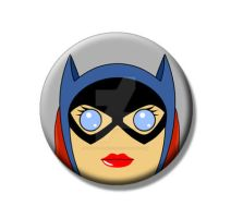 Batgirl Pin Back Button by Mutant-Cactus