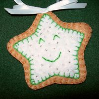 Happy Star Cookie Ornament by UrsulaPatch
