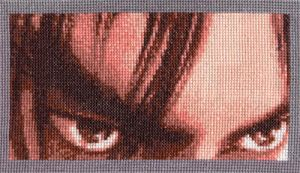 Jin Eyes-Cross Stitch by shingorengeki