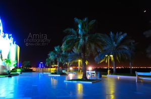 near Manar mall at night RAK by amirajuli