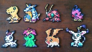 Digimon Adventure Perler Beads by AnimeKing0