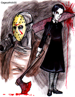 Jason and Wednesday doodles by Cageyshick05