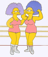 Selma and Patty: Tag Team by paulibus2001