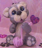 polymer clay kitten kimora by crazylittlecritters