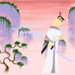 Samurai Jack and Mountains by vvoltaire