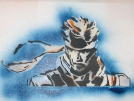 Solid Snake stencil full by NerdCraft