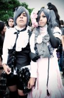 Ciel and Lady Ciel cosplay by andyblackstar