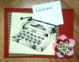 VD card typewritter by SinoritaEnigma