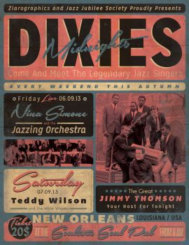 Vintage Jazz Event Poster/Flyer by ZamfirAugustin