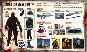 Zombie Survival Sheet by Helghast-Ninja