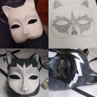 Raccoon Mask:Process by SpiralRaccoon