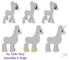 My little Pixel Stallion by Ameyal