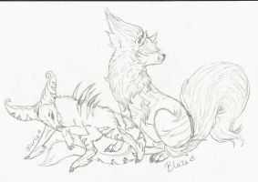 .:Sketch Commission-Kryptic-memories:. by LeeOko