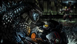 GOJIRA X PACIFIC RIM by Virus-91