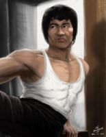 bruce lee by kinwii